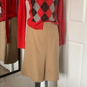Ann Taylor Loft tan skirt
